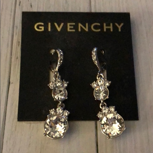 Givenchy Jewelry - Givenchy Crystal and Silver Earrings